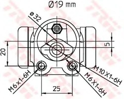 BWD303  TRW - Циліндр гальмівний робочий  арт. BWD303