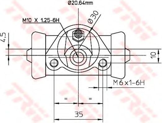 Колесный тормозной цилиндр TRW BWF150