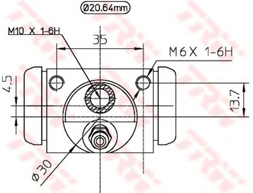 Цилиндр задний тормозной Fiat Doblo 05-  арт. BWF321