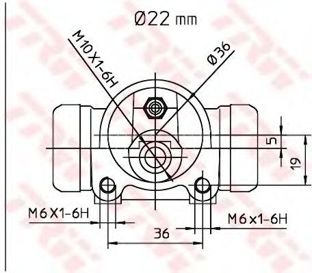 Колесный тормозной цилиндр  арт. BWH168