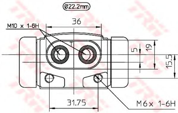 BWH241  TRW - Циліндр гальмівний робочий  арт. BWH241