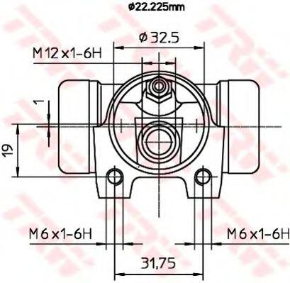BWH373  TRW - Циліндр гальмівний робочий  арт. BWH373