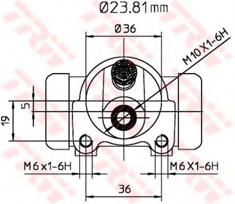 Колесный тормозной цилиндр  арт. BWK119