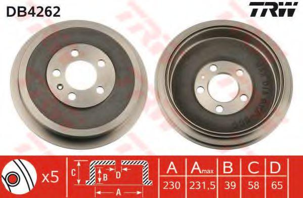 Гальмівний барабан TRW DB4262