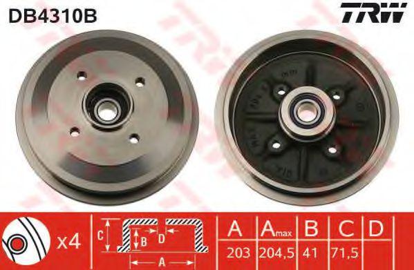 Гальмівний барабан TRW DB4310B