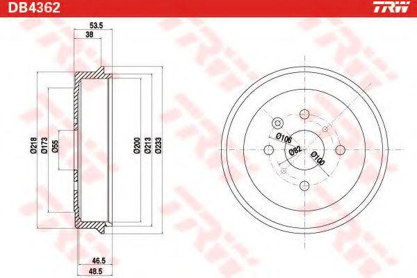 Тормозной барабан  арт. DB4362