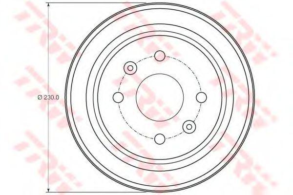 Гальмівний барабан TRW DB4442
