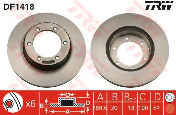 Гальмівний диск  арт. DF1418
