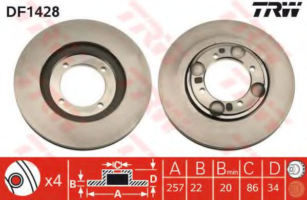 Тормозной диск  арт. DF1428