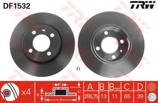 DF1532  TRW - Гальмівний диск  арт. DF1532