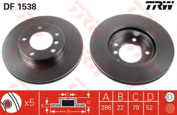 DF1538  TRW - Гальмівний диск  арт. DF1538