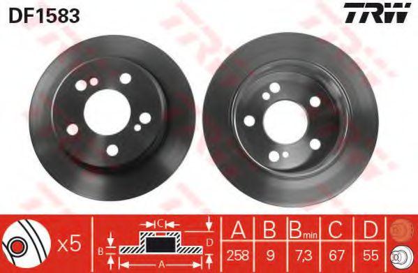 Тормозной диск TRW DF1583