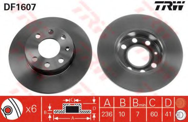 Тормозной диск TRW DF1607