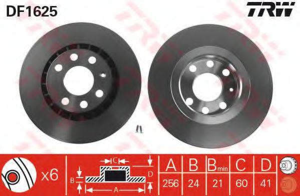 DF1625  TRW - Гальмівний диск  арт. DF1625