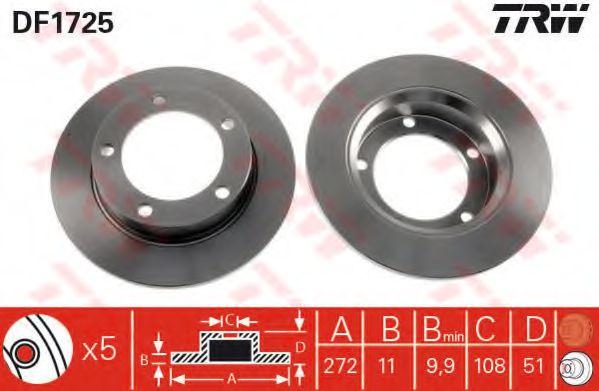 Тормозной диск Lada2121  арт. DF1725