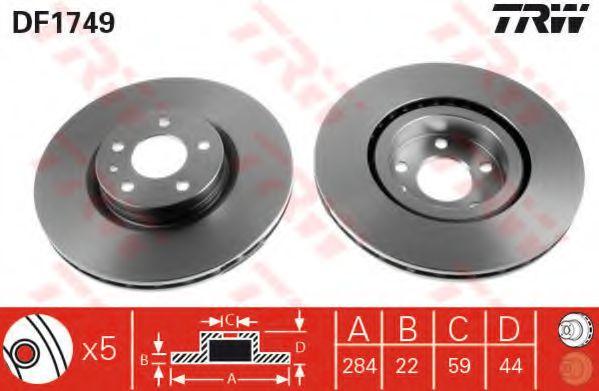 Гальмівний диск  арт. DF1749