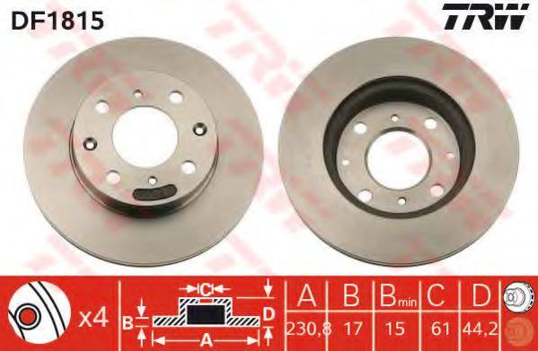 Тормозной диск  арт. DF1815