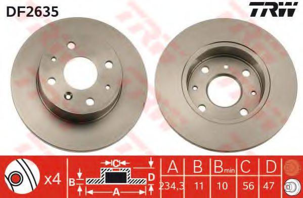 Тормозной диск  арт. DF2635