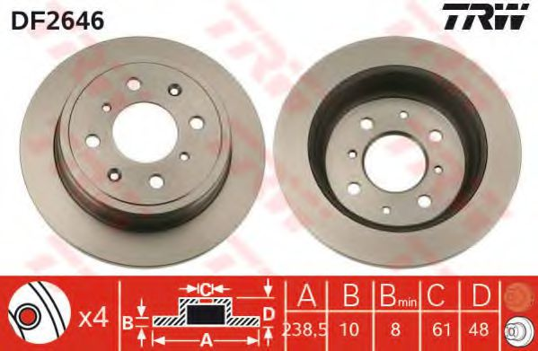 Тормозной диск  арт. DF2646