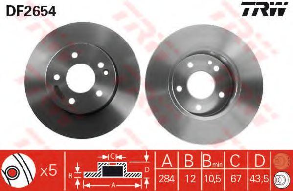 Диск тормозной MB C-CLASS передн. (пр-во TRW)                                                        REMSA арт. DF2654