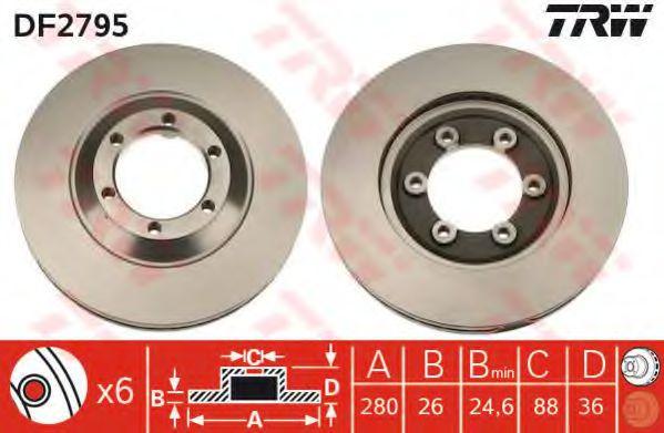 Тормозной диск  арт. DF2795