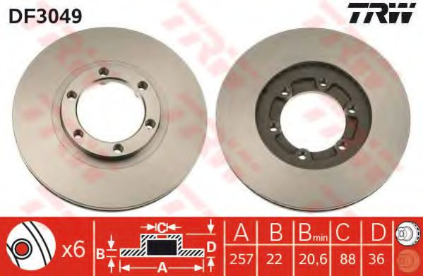Тормозной диск  арт. DF3049
