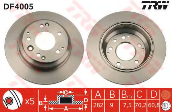 Тормозной диск  арт. DF4005