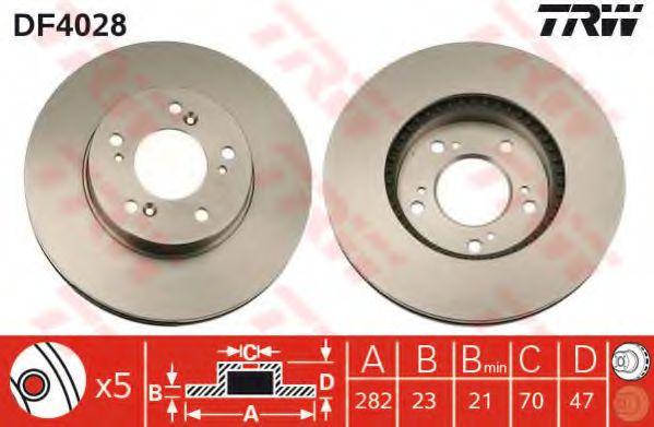 Тормозной диск  арт. DF4028