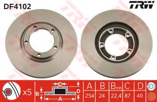 Гальмівний диск  арт. DF4102