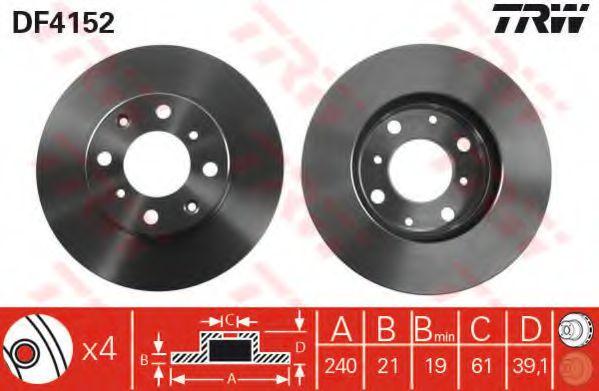 Тормозной диск  арт. DF4152