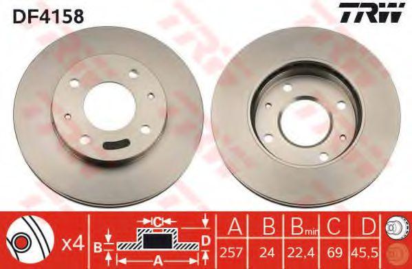 Тормозной диск  арт. DF4158