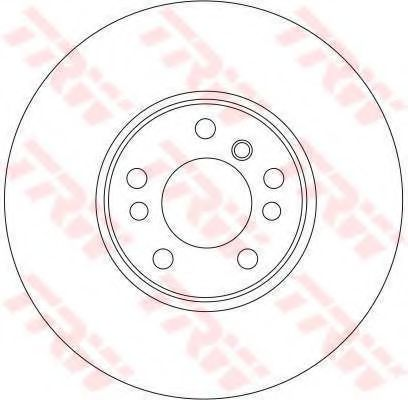 DF4187S  TRW - Гальмівний диск  арт. DF4187S