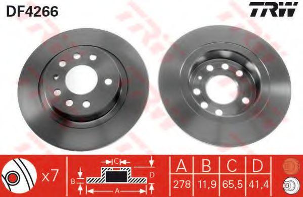 DF4266  TRW - Гальмівний диск  арт. DF4266