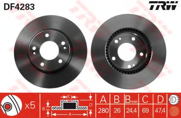 Тормозной диск  арт. DF4283