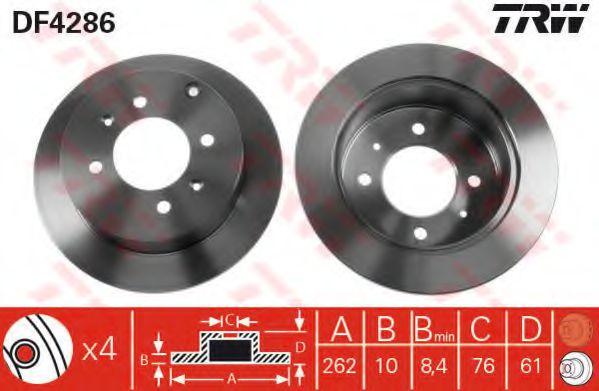 Тормозной диск  арт. DF4286