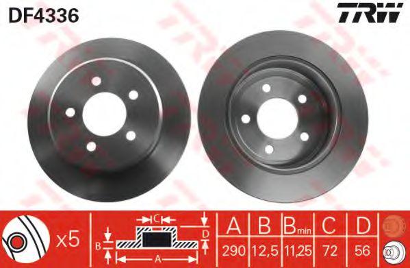 Гальмівний диск  арт. DF4336