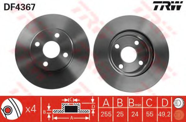 Тормозной диск  арт. DF4367