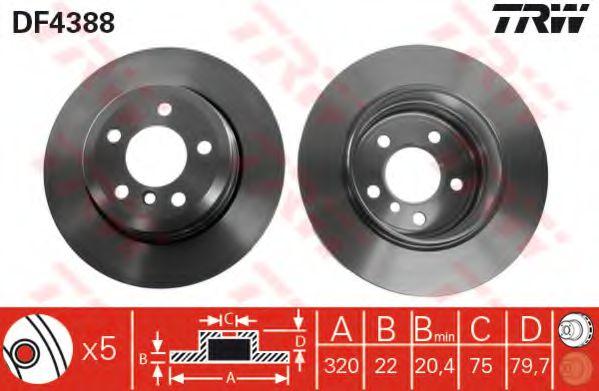 Гальмівний диск  арт. DF4388