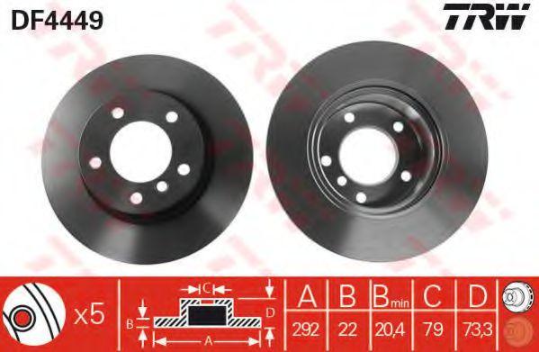 Тормозной диск  арт. DF4449