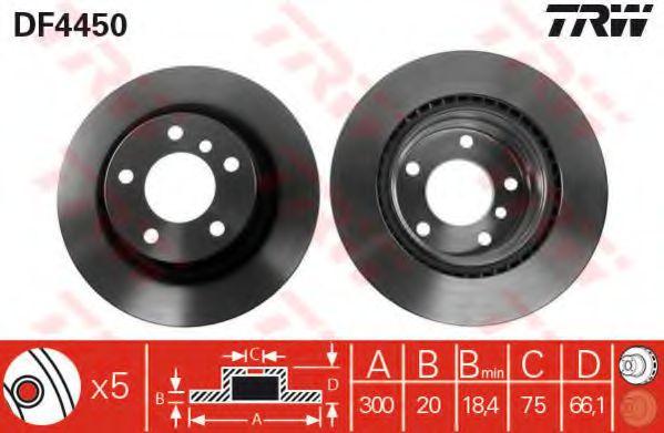 DF4450  TRW - Гальмівний диск  арт. DF4450