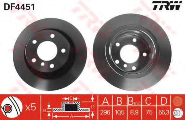 Гальмівний диск  арт. DF4451