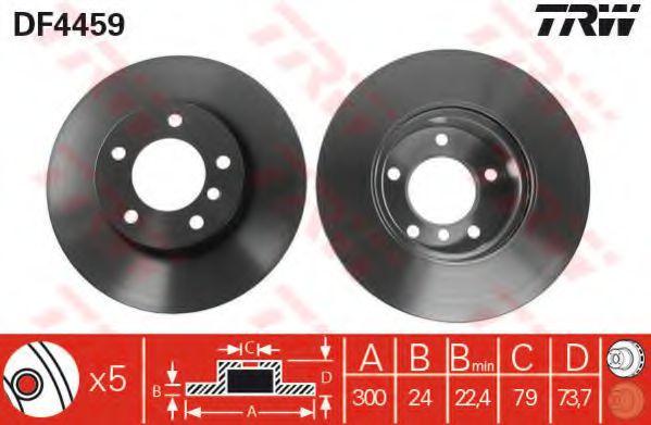 Гальмівний диск  арт. DF4459