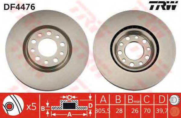 Гальмівний диск  арт. DF4476