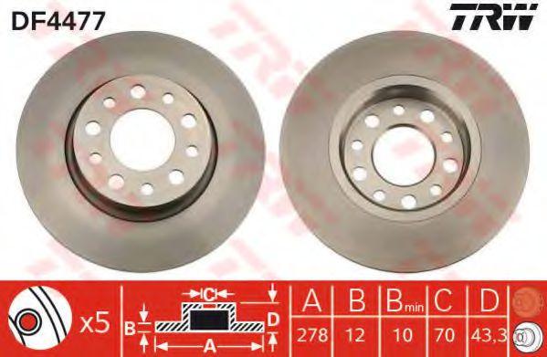 Гальмівний диск  арт. DF4477