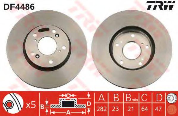 DF4486  TRW - Гальмівний диск  арт. DF4486