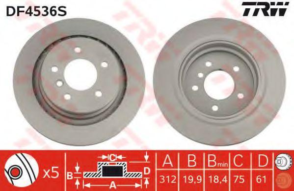 DF4536S  TRW - Гальмівний диск  арт. DF4536S