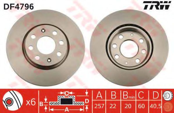 Гальмівний диск TRW арт. DF4796