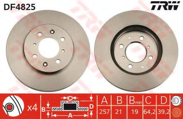 Тормозной диск  арт. DF4825