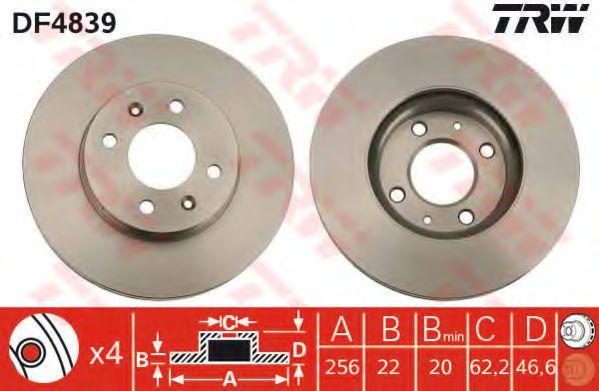 Гальмівний диск  арт. DF4839