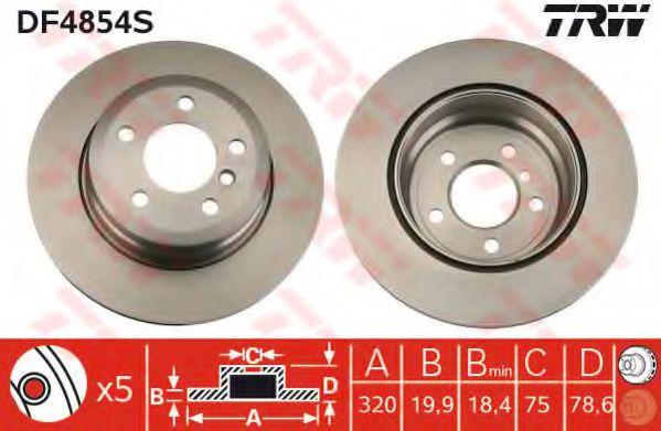 Тормозной диск  арт. DF4854S